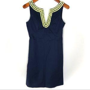 Lilly Pulitzer Dresses - Lily Pulitzer Blair beaded shift dress navy/ 2